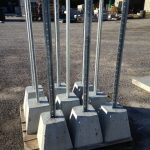 concrete sign post bases